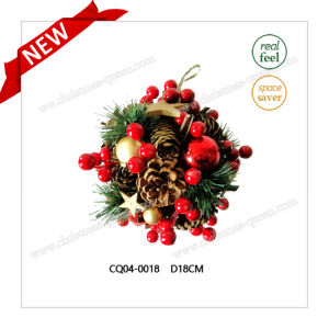 Specially Designd Dia. 17cm Popular Candlestick Christmas Decoration Plastic Products Home pictures & photos