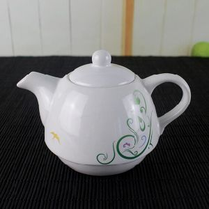 Customized White Color Ceramic Tea Pot Set pictures & photos