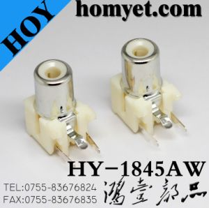 SMD Single RCA Port with Slivering in White (HY-1845AW) pictures & photos
