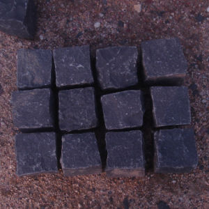 Natural Black Basalt Cube Stone