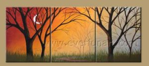 Modern Framed Abstract Landscape Tree Oil Paintings on Canvas (LA3-183) pictures & photos