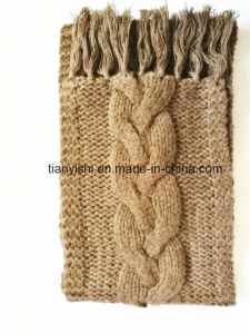 Cashmere Lady′s Winter Scarf Hand Knit pictures & photos