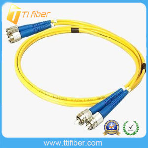 FC-FC Sm Duplex Fiber Optic Jumper with Blue Boot pictures & photos