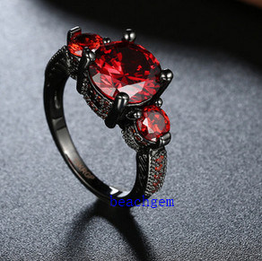 Black Plated Color CZ Jewelry Rings (R0846) pictures & photos