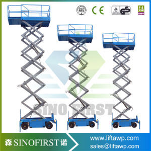 High Lift Truck Mounted Aerial Scissor Lift Aerial Working Platform pictures & photos