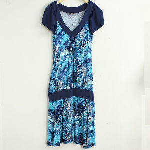 Short Sleeve Ladies Dress Fashion 2013 (LD-057)