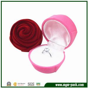 Beautiful Rose Design Jewelry Ring Box pictures & photos