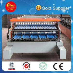 Color Steel Plate Double Layer Roof Panel Roll Forming Machine pictures & photos