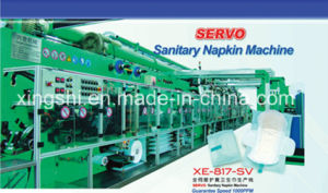 China High Speed Automatic Full-Servo Disposable Sanitary Napkin Manufacturing Machine