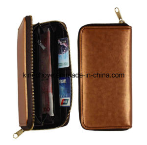 High Quality Soft and Small Grain PU Long Shape Fashion Wallet (KCW31) pictures & photos