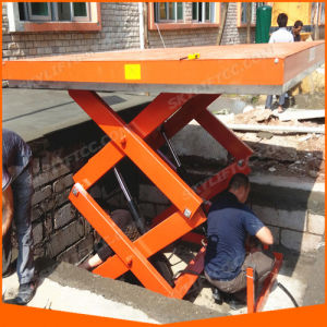 Heavy Duty Stationary Elelctric Hydraulic Scissor Lift Table pictures & photos