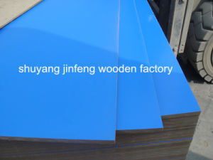 ISO9001: 2008 Blue Color 2 Side 17mm Melamine MDF, E2 pictures & photos