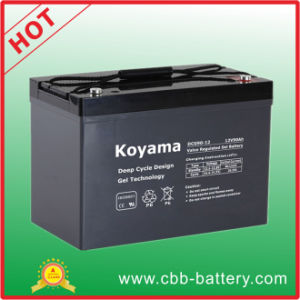 90ah 12V Deep Cycle Life Service Gel Battery for Remote Monitoring pictures & photos