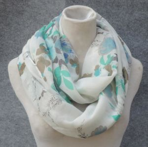 Spring Summer All Over Print Viscose Infinity Scarf pictures & photos