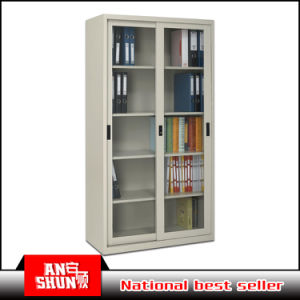Steel Cheap Storage Cabinet Glass Sliding Doors File Cabinet pictures & photos