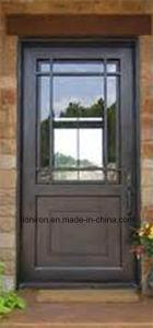 Exterior Custom Wrought Iron Security Door with Window pictures & photos