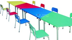 High Quality Children Furniture Plastic School Desk and Chair pictures & photos