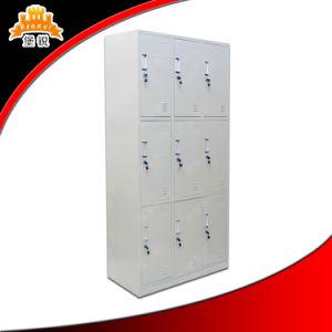 Home Office Furniture White 9-Door Steel Locker pictures & photos