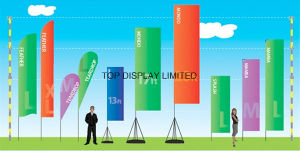 Outdoor Advertising Fabric Polyster Printed Colorful Flag pictures & photos