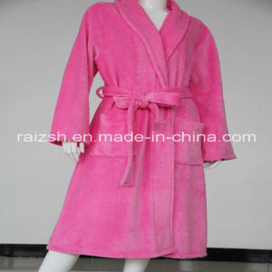 Solid Color Fannel Women Bathrobes pictures & photos