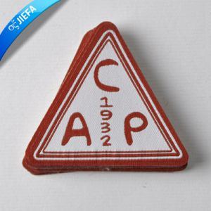Factory Price Brand Logo Triangle Woven Patch pictures & photos