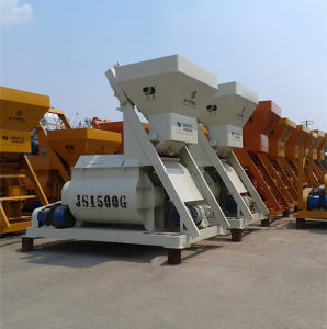1.5m³ Electric Twin Horizontal Shaft Concrete Mixer pictures & photos