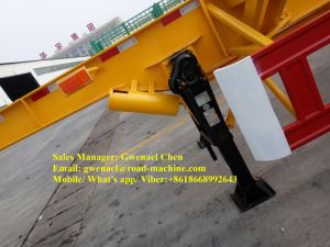 3 Axles 80 Tons Skeleton Container Semi-Trailer with Fuwa Axle pictures & photos