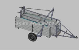Galvanized Goat Sheep Animal Livestock Trailer on Sale pictures & photos