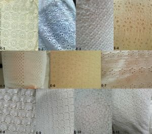 100%Cotton Woven Embroidery Fabric (EMB#E) pictures & photos