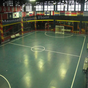 Top Quality Roll and Interlock Sport Flooring for Football Court pictures & photos