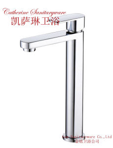 Brass Single Lever Single Hole High Basin Cold Tap in Chrome (101114)