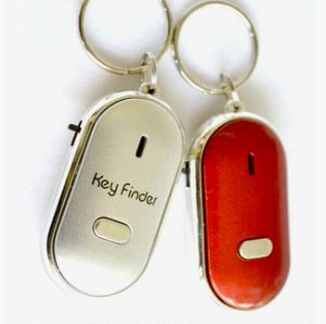 Flashing LED Whistle Keyring with Logo Printed (5022)