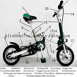 Folding Electric Bicycle with 36V10ah Lithium Battery pictures & photos