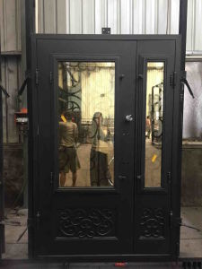 Handmade Wrought Iron Door with Side Lite pictures & photos