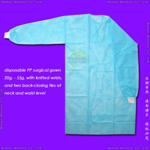 Disposable Medical Gown with Knitted or Elastic Cuffs pictures & photos