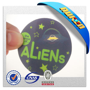 Fashionable 3D Lenticular Aliens Round Changing Card pictures & photos