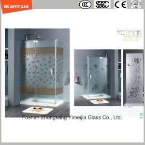 Silk Screening & Acid Etched Glass Shower Panel pictures & photos