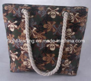 Soft Handled of Promotion Canvas Bag with Skull Styles pictures & photos