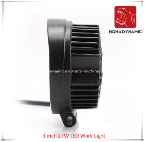 LED Car Light of 3 Inch 27W LED Work Light for SUV Car LED Offroad Light and LED Driving Light pictures & photos