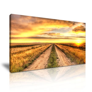 Stretch to The Horizon Road Canvas Painting for Home Decoration