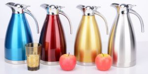 2000ml 18-8stainless Steel Vacuum Kettle with Steel Cover (WSB-003) pictures & photos