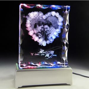 Crystal Engraved with Wedding Photos for Wedding Gifts pictures & photos