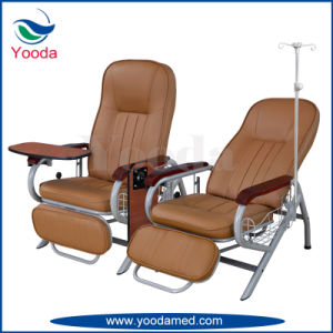 Stainless Steel Clinical Recliner Chair with IV Pole pictures & photos