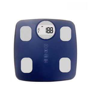 Large LCD Display Electronic Body Fat Scale with Strong Metal Base pictures & photos