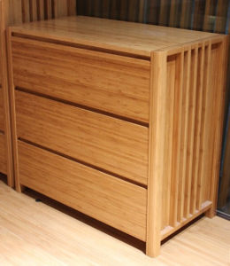 Modern Design Bamboo Three Drawers Chest in Bedroom Furniture pictures & photos
