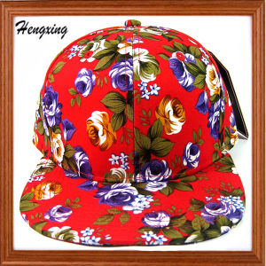 Colorful Flat Brim Floral Snapback Cap pictures & photos