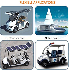 Customized Sunpower Semi Flexible Solar Panel 50W 100W 150W for Camping Car Marine RV Caravan pictures & photos