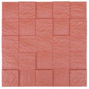 Red FRP Tile Look 3D Waterproof Wall Panel pictures & photos