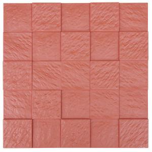 Red FRP Tile Look 3D Waterproof Wall Panel
