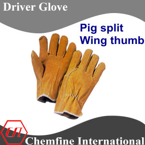 Pig Split, Wing Thumb Leather Driver Glove pictures & photos